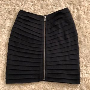 Silence + noise zip up layered skirt NWOT